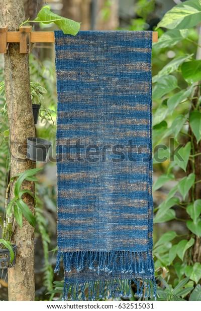 Scarf made of indigo Local people of Sakon Nakhon Thailand