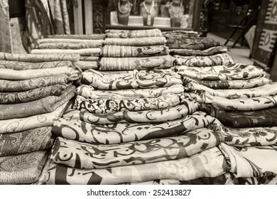Scarfs in Istanbul Flee market.