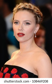 "Scarlett Johansson arrives for the ""Avengers Assemble"" premiere at the Vue cinema Westfield, London. 19/04/2012 Picture by: Steve Vas / Featureflash"