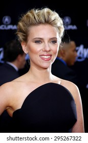 Scarlett Johansson at the Los Angeles premiere of 'Marvel's The Avengers' held at the El Capitan Theatre in Los Angeles on April 11, 2012.