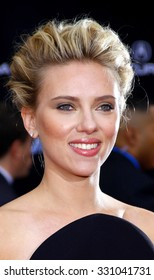 """Scarlett Johansson at the Los Angeles premiere of """"The Avengers"""" held at the El Capitan Theater in Hollywood, USA on April 11, 2012."""