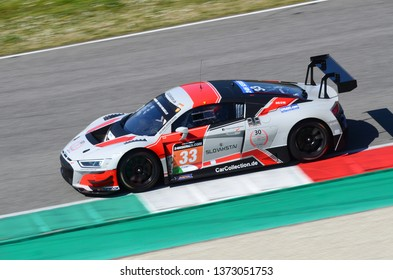 Scarperia, 29 March 2019 Italy: Audi R8 LMS 2019 of Car Collection Motorsport Germany Team driven by Stefan Aust, Christian Bollrath, in action during 12h Hankook Race at Mugello Circuit.