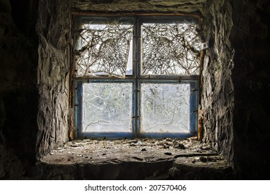 scarred window to the world - oozing light