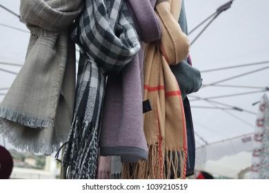 Scarves at market