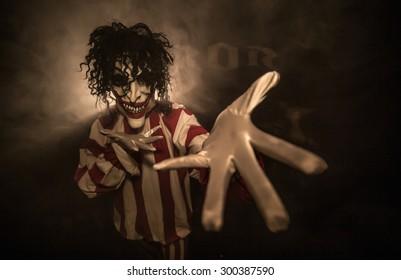 Scary clown. The clown suit.