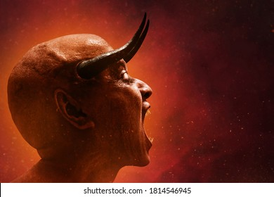 Scary devil scream, halloween theme