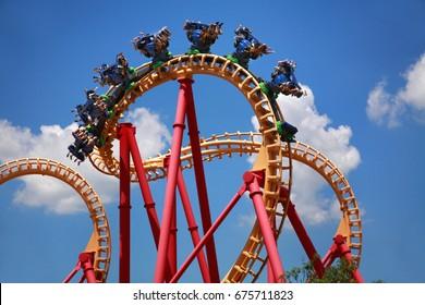 Scary Fun On An Upsidedown Roller Coaster