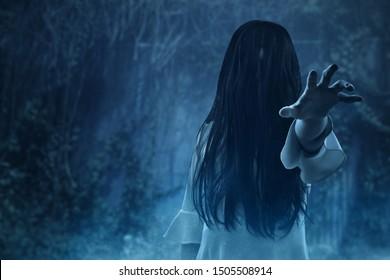 Scary ghost  halloween theme