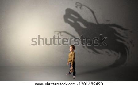 Scary Ghost Shadow Dark Empty Room Stock Photo (Edit Now