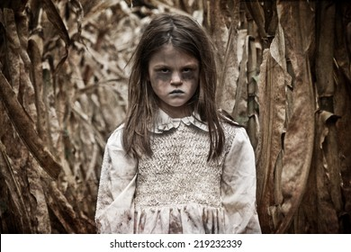 Scary Girl in a Corn Field