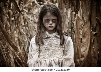 Scary Girl in a Corn Field