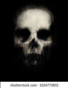 Scary Grunge Wallpaper Halloween Background With Spooky Ghost Skull
