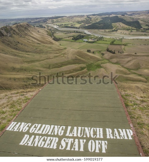 scary launch ramp for paragliding