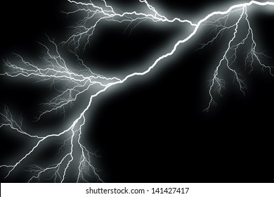 Scary lightning in the night