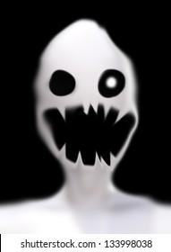Scary looking ghost face
