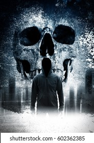 Scary person in the dark
