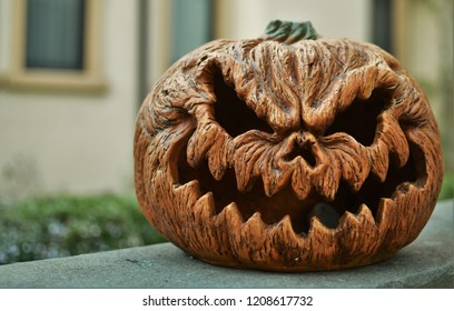 Scary Pumpkin Images Stock Photos Vectors Shutterstock There are countless different ideas that are readily available online which helps in giving scary look to the carved pumpkin. https www shutterstock com image photo scary pumpkin background angry face halloween 1208617732