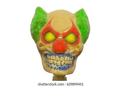 Scary Skeleton Clown Portrait