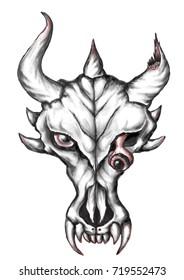 The scary skull.