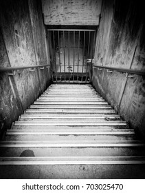Scary, spooky stairs in prison