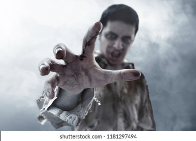 Scary zombie hand