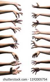 scary zombie hand isolated on white background