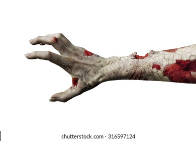 scary zombie hand isolated on white; maybe useful for some Halloween concept. (more in my portfolio)
