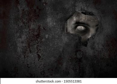 Effrayant oeil de zombie