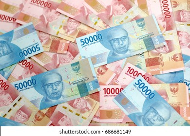 scattered indonesian money rich