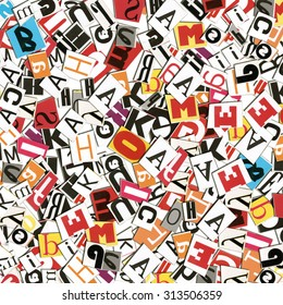 Scattered letters. Fun background