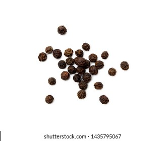 Scattered pepper isolated on white background