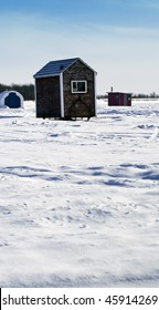 Ice Fishing Hut Images, Stock Photos & Vectors | Shutterstock
