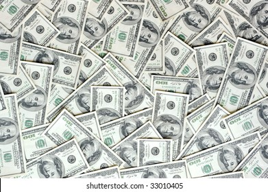 scattered USA currency