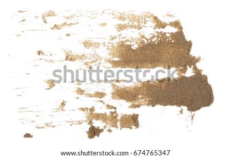 Scattered Wet Desert Sand Isolated On Stock Photo (Edit Now