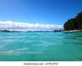 Scen of Doini Island from the water, Papua New Guinea