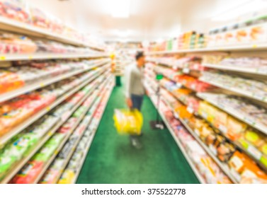 scene in candy shop in country side -blurred picture.