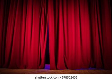 scene, a curtain theater