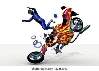 scene to damages of the motorcycle