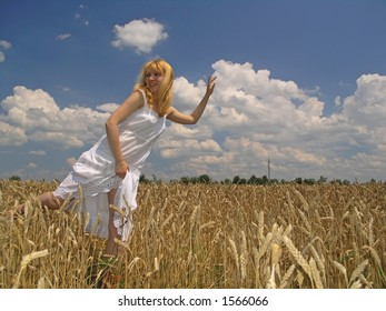 Scene with girl in field