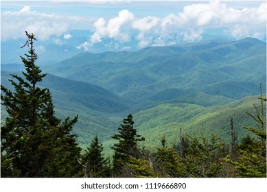 The scene of great smoky mountains