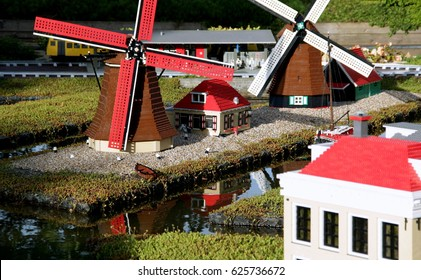A scene from Legoland in Billund, Denmark