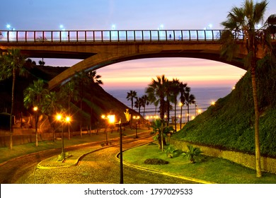 Scene in MIraflores a district in the south of Lima, Peru