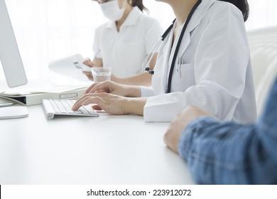 Scene of the modern hospital