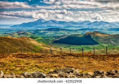 Scene in the Mourne Mountains, County Down, Northern Ireland.