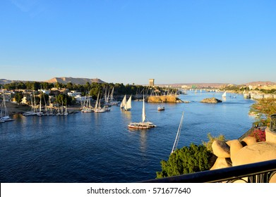 A scene for the Nile in Aswan