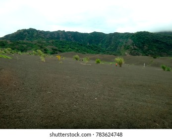 Scene of the old airport in Rabaul, destroyed by a volcanic eruption in 1994.