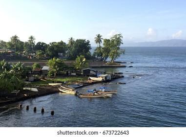 Scene from the port of Alotau, Milne Bay, Papua New Guinea.