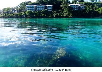 Scene of Port Vila Harbour, Efate, Vanuatu.