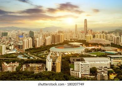 scene of shenzhen special economic zone,China