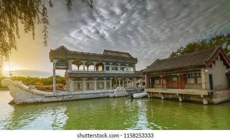 Scene of summer palace  park, Beijing China